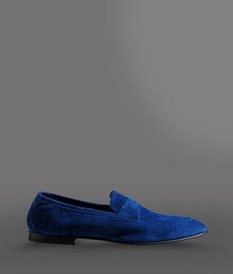 Giorgio Armani Loafer In Calfskin Suede