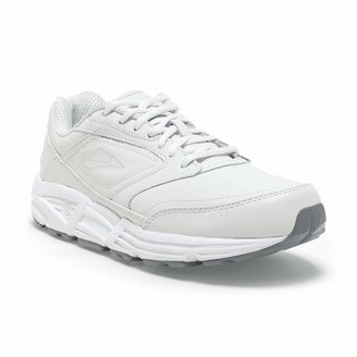 Brooks Womens Addiction Walker Walking Shoe - White - B - 6.0