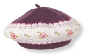 Janie and Jack Cross-Stitched Sweater Beret