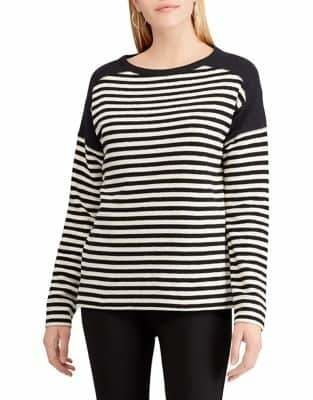 Chaps Striped Long-Sleeve Cotton Tee