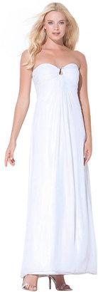 Laundry by Shelli Segal White Keyring Maxi Dress