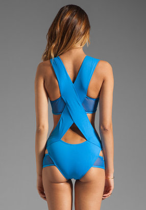 MINIMALE ANIMALE Stephanie Deux One Piece in Swell Blue with Swell Blue Mesh