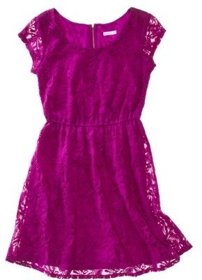 Xhilaration Juniors Fit and Flare Lace Dress - Assorted Colors