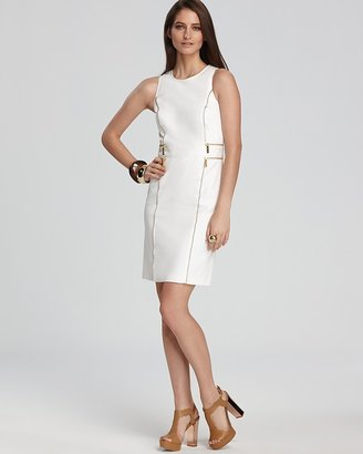MICHAEL Michael Kors Petites Double Zip Sheath Dress