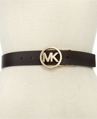 Michael Kors Reversible Leather Belt with Logo Buckle Belt $55 thestylecure.com