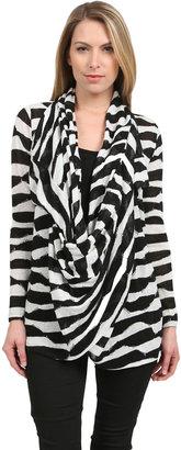 Alice + Olivia Dezi New Drape Wrap in Black/White