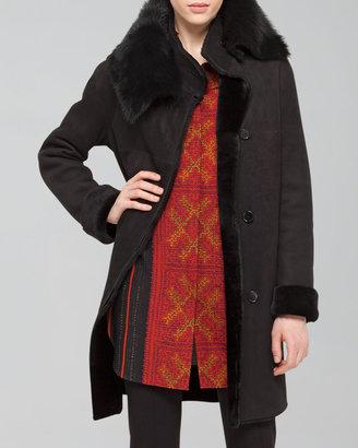 Akris Punto Twin-Face Lamb Fur Coat, Black