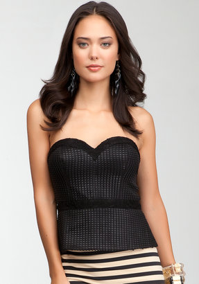 Bebe Woven Ribbons & Lace Bustier