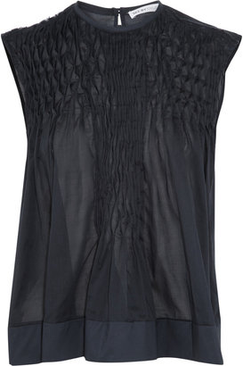 See by Chloe Pleated cotton-voile top