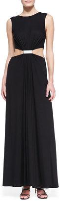 Yigal Azrouel Cut25 by Cutout-Waist Jersey Gown