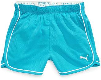 Puma Kids Short, Girls Foldover Mesh Shorts