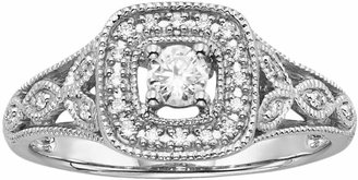 Vera Wang Simply Vera Diamond Halo Engagement Ring in 14k White Gold (1/4 ct. T.W.)