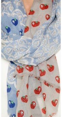 Yarnz Lace Strawberry Scarf