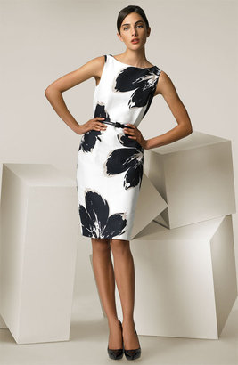 Max Mara 'Alabama' Floral Print Belted Dress