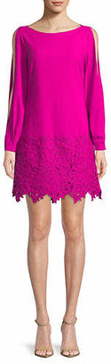 Laundry by Shelli Segal Lace-Trimmed Shift Dress