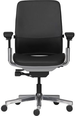 Steelcase Amia in DesignTM Black Leather Office Chair