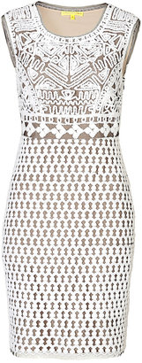 Catherine Malandrino Fishnet Embroidered Dress