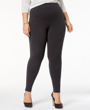 Hue Women's Plus Size Cotton Leggings, Created for Macy's