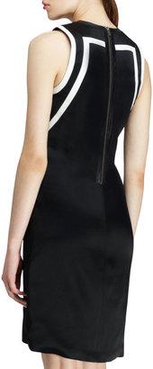 Helmut Lang Sleeveless Silver-Print Dress
