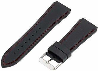 Hadley Roma Hadley-Roma 24mm 'Men's' Rubber Watch Strap