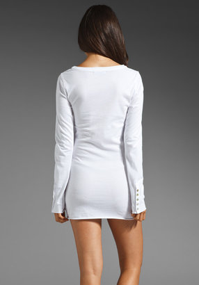 Velvet by Graham & Spencer Ganet Baby Jersey Classic Long Sleeve Dress