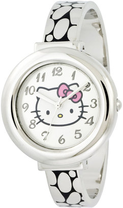 Hello Kitty Silver-Tone Hinged Bangle Watch $30 thestylecure.com