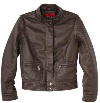 Coffee Shop Petites Outerwear Moto Jacket - Brown
