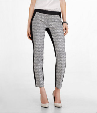 Express Optic Tweed Front Columnist Ankle Pant