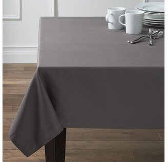 "Crate & Barrel Fete Pewter 60""x144"" Tablecloth"