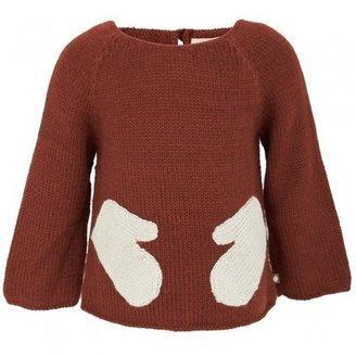 Oeuf Brown 'Hug Me' Sweatshirt