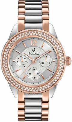 Bulova Women's Two-Tone Stainless Steel Bracelet Watch 38mm 98N100