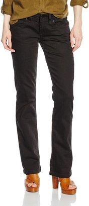 Cross Jeanswear Co. Cross Jeans Women's Boot Cut Jeans - Black - Schwarz (Black Black) - 27/32 (Brand size: 27/32)