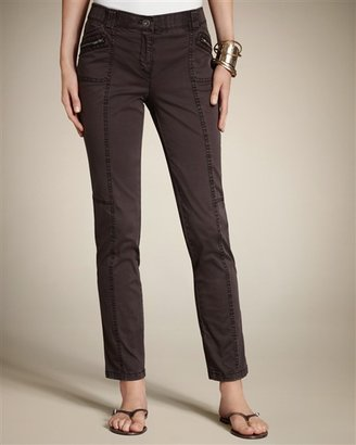 Chico's Casual Cotton Slim Cargo Ankle Pant
