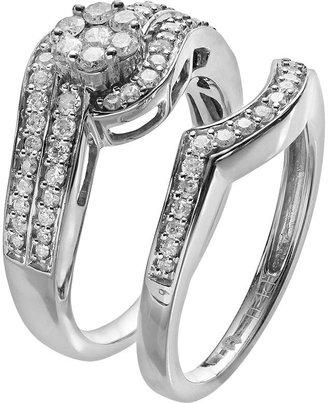 Diamond essentials diamond engagement ring set in platilite (3/4-ct. t.w.)