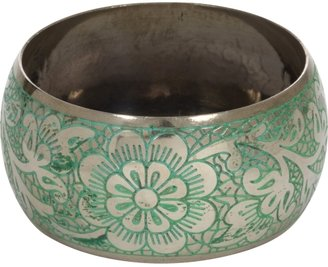 Charlotte Russe Patina Floral Bangle