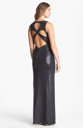 Laundry by Shelli Segal Back Cutout Jersey Gown
