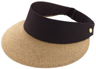 Women's Eric Javits 'Squishee Champ' Custom Fit Visor - Black $145 thestylecure.com