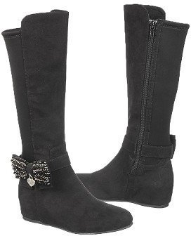 Stuart Weitzman Kids' Iselle Crystal Bow Tall Boot Pre/Grade School