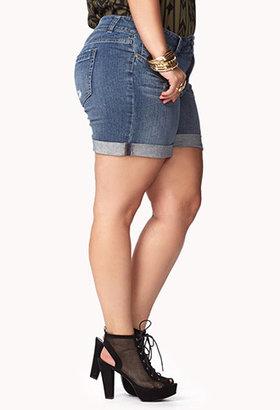 Forever 21 FOREVER 21+ No-Fuss Denim Shorts