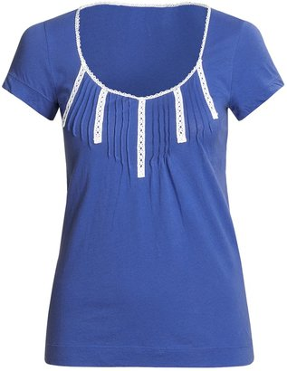 Arianne @Model.CurrentBrand.Name Pima Cotton Shirt - Short Sleeve (For Women)