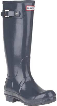 Hunter Glossy Rain Boot Violet