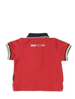 Armani Junior Stone Washed Piquet Polo Shirt