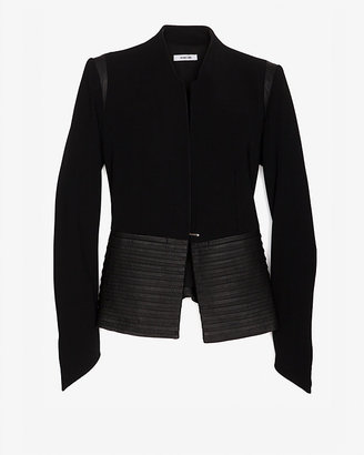 Helmut Lang Pleated Leather Combo Jacket