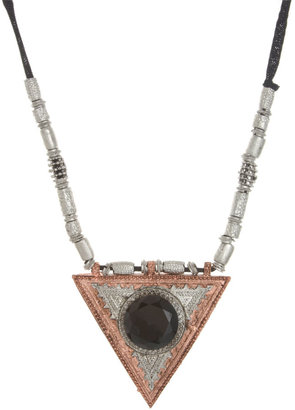 River Island Statement Triangle Long Pendant Necklace