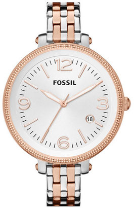 Fossil 'Heather' Bracelet Watch, 42mm Rose Gold/ Silver
