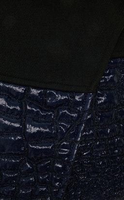 Kenzo Reptile-Jacquard Mini Wrap Skirt