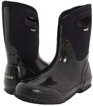 Bogs Classic Mid Handle (Black Shiny) Women's Waterproof Boots