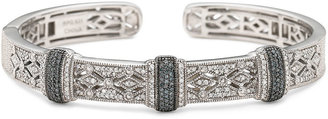 JCPenney FINE JEWELRY Vintage Inspirations 1/2 CT. T.W. White & Blue Diamond Cuff