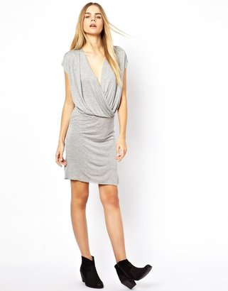 American Vintage Jersey Dress with Wrap Front