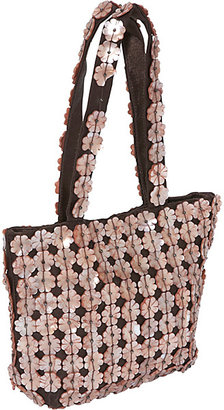 Moyna Handbags Floral Mother of Pearl Wristlet